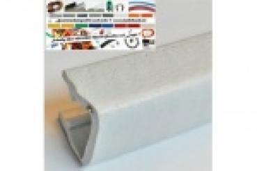 kantenschutzprofil aus weich pvc klemmprofil 8 10mm ma e 17x15 5mm in der farbe signalweiss. Black Bedroom Furniture Sets. Home Design Ideas